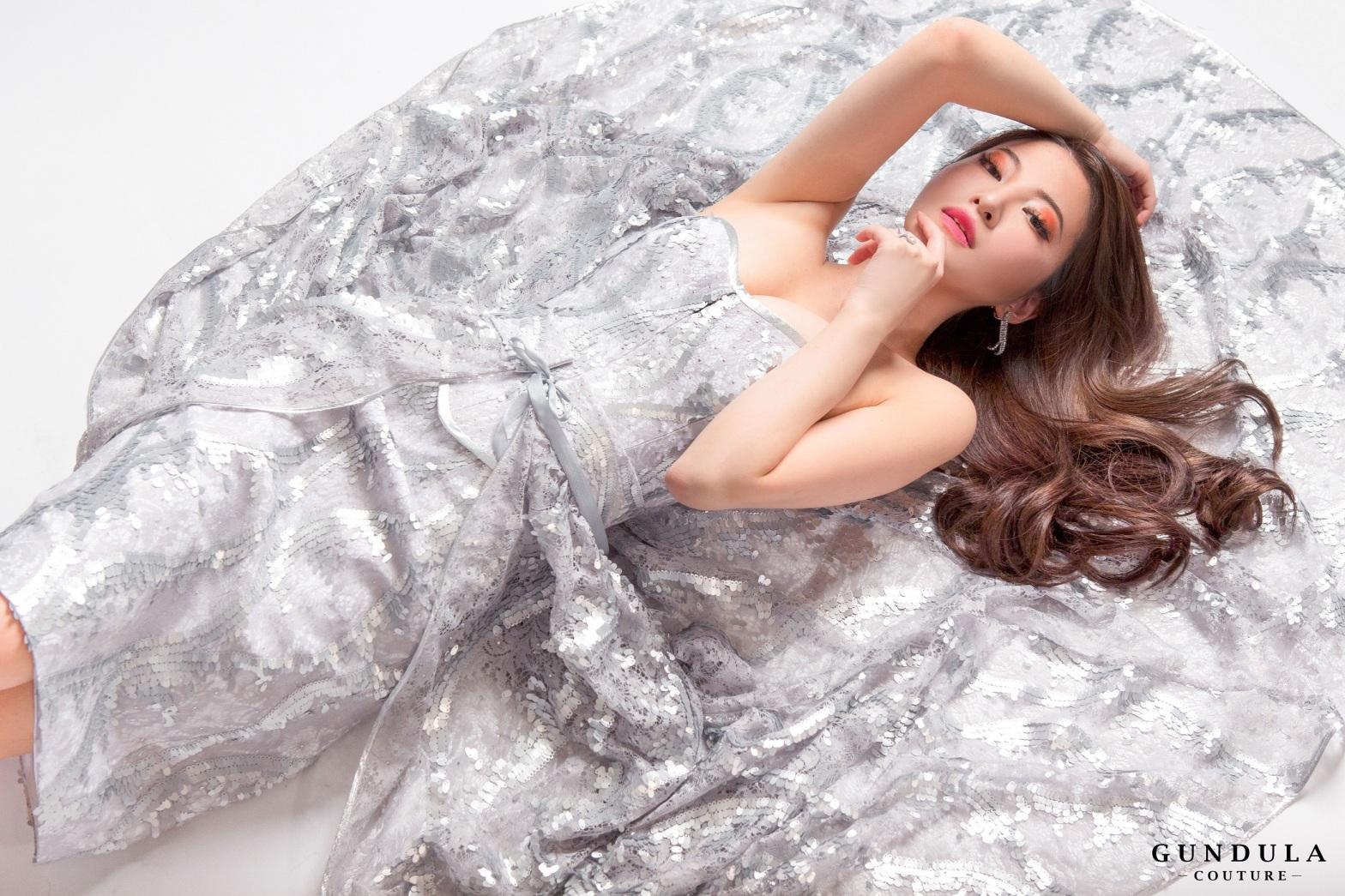 An image of a dress created by Gundula Hirn of Gundula Couture.