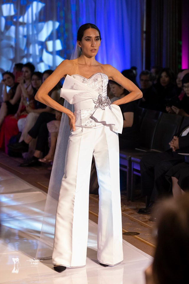 An image of Gundula Couture's 3-piece ensemble featuring corset, pants and belt.
