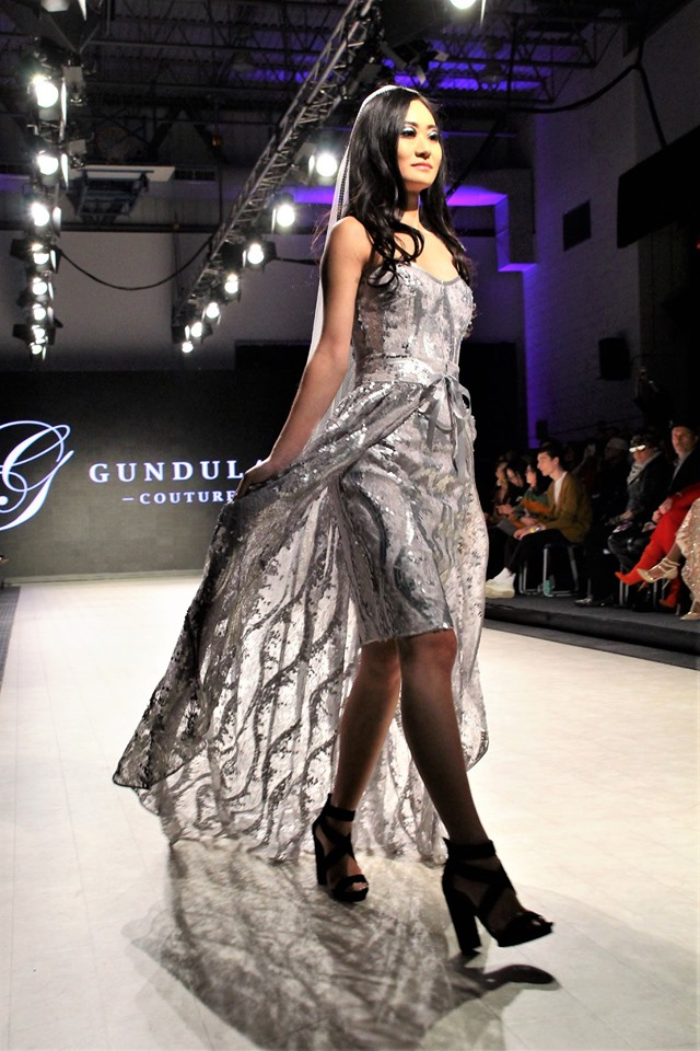 Vancouver Fashion Week 2020 Photo by Max C Yeoh of design Brailee by Gundula Couture