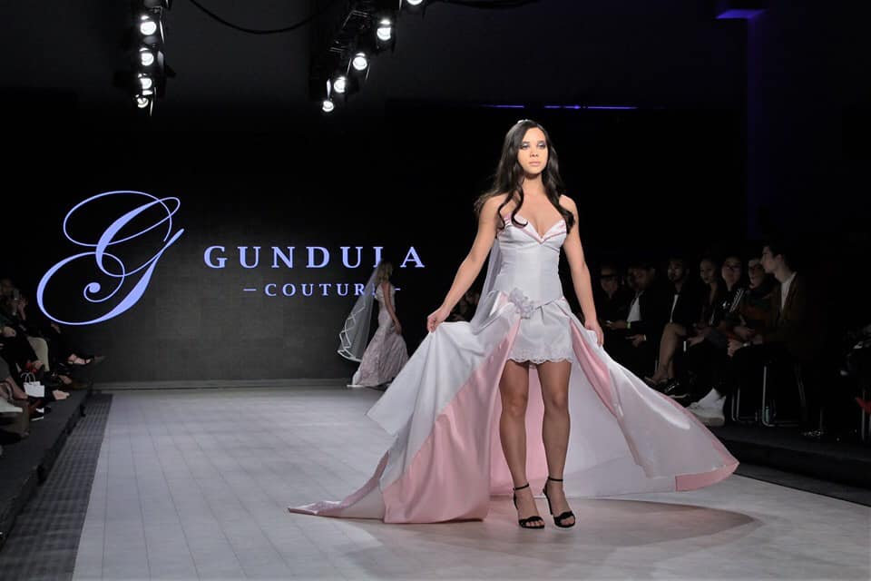 Vancouver Fashion Week 2020 Photo by Max C Yeah of design River by Gundula Couture