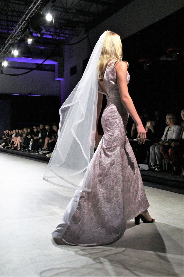 Vancouver Fashion Week 2020 Photo by Max C Yeoh of design Wren by Gundula Couture